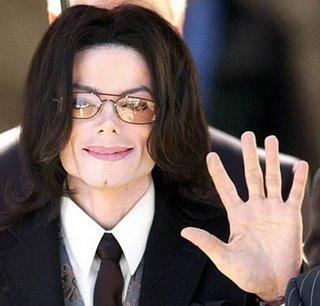 Michael Jackson waves Goodbye.
