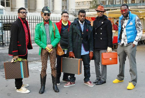 What can even be said about this group? This photo was caught after Paris Fashion Week and boy oh boy, were there Ni**as in Paris!With the exception of the leopard man-leggings, this whole click clearly belongs very close to Kanye…… Young, Fly and Flashy!