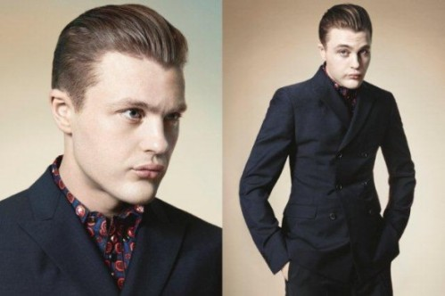 Broadway Empire' heartthrob Michael Pitt lends his charm to the Prada Spring/Summer 2012 Menswear campaign.  The 30-year-old actor stars in the Golden Age of Hollywood-themed campaign, referencing the celluloid iconography of the Italian brand's Spring/Summer 2012 Womenswear campaign. Photographed by David Sims, Michael with his slicked back sun-kissed locks, portrays the quintessential Prada self-reflective introvert, the humorous farceur, the rock star as well as the playboy in the cinematic art.