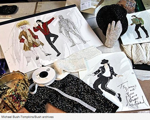 "L.A.-based costume designers Michael Bush and Dennis Tompkins have quietly designed most of Michael Jackson's personal and concert tour wardrobes, tens of thousands of pieces. On December 2, Dennis Tomkins passed away. Karen Faye (Michael's make-up artist) tweeted today (10:45 EST): ""Yes, again, we loose another friend and great artist. Dennis Thompkins Dec. 2. It was his wish to be discrete and quiet about his passing."""